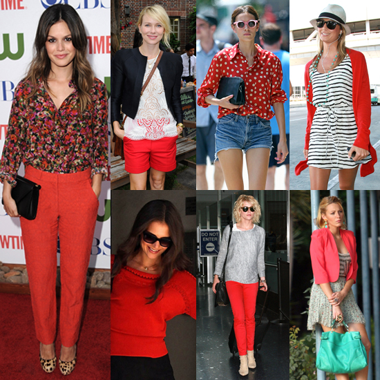 7 Days, 7 Ways: How Celebs Work Red Into Their Wardrobe