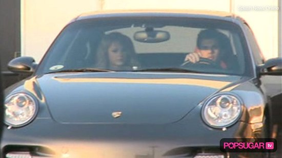 Taylor Swift And Taylor Lautner In Car. Video of Taylor Lautner